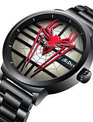 Недорогие -Муж. Наручные часы Кварцевый Компас Крупный циферблат сплав Группа Аналоговый На каждый день Мода Черный - Черный Красный / Нержавеющая сталь