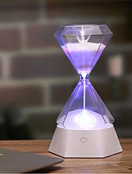 billige Originale lamper-1pc Diamond Timeglass LED Night Light / Nursery Night Light Fargerik Usb For barn / Oppladbar / Berør sensoren 5 V