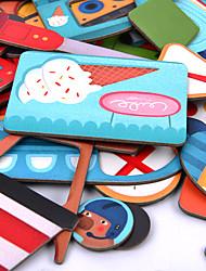 Недорогие -Пазлы Вид на город Cool утонченный Автопогрузчик Все Игрушки Подарок