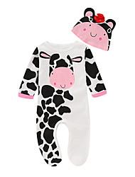お買い得  -赤ちゃん 女の子 プリント 長袖 ワンピース