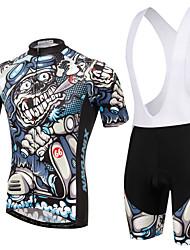 Недорогие -XINTOWN С короткими рукавами Велокофты и велошорты-комбинезоны - Синий Велоспорт Велошорты / Джерси / Наборы одежды, Дышащий, 3D / Быстровысыхающий / Зима / Эластичная / 3D-панель / Зима