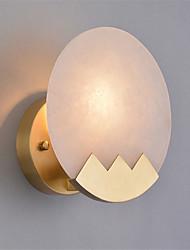 Недорогие -северная Европа современный гальванизированный металлический настенный светильник мраморный мини-настенный светильник гостиная столовая кафе e12 / e14 лампа база