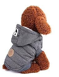 Недорогие -Собаки Плащи Одежда для собак Однотонный Классика Английский Серый Синий Хлопок Костюм Назначение Зима Женский Сохраняет тепло