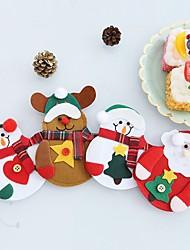 Недорогие -Аксессуары для вечеринок Рождество / Вечеринка / ужин Хранение посуды Нетканые Новогодняя тематика / Elk / Снеговик