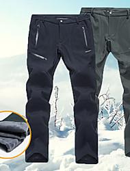 Недорогие -Муж. Лыжные брюки Водонепроницаемость Сохраняет тепло Анатомический дизайн Катание на лыжах Отдых и Туризм Сноубординг Полиэстер Спандекс Шерстяная фланель Тёплые брюки Одежда для катания на лыжах