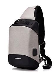 Недорогие -Муж. Молнии холст Слинг сумки на ремне Черный / Темно-серый / Светло-серый