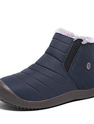 abordables -Homme Bottes de neige Coton Hiver Décontracté Bottes Garder au chaud Bottine / Demi Botte Noir / Bleu / Kaki / De plein air