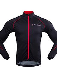 baratos -Realtoo Homens Jaqueta para Ciclismo Moto Inverno Jaquetas em Velocino / Lã Clássico Inverno Preto / Vermelho Roupa de Ciclismo / Micro-Elástica