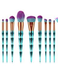 baratos -12pcs Pincéis de maquiagem Profissional Pincel de Delineador de Olhos Pincel para Blush Pincel para Base Pincel para Lábios Pincel para Sombra Pincel para Cílios Pincel para Pó Pêlo Sintético