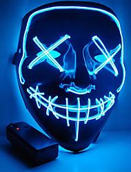 Недорогие -Хэллоуин маска мотоцикл маска светодиодная подсветка партии маска ясно год выборов большой смешной маска фестиваль косплей костюм поставки светятся в темноте