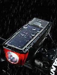 Недорогие -Велосипедный рог Светодиодная лампа Велосипедные фары Велоспорт Водонепроницаемый, Портативные, Быстросъемный Перезаряжаемая батарея 350 lm От батареи / Солнечная энергия Белый Велосипедный спорт