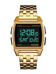 Недорогие -Муж. Спортивные часы Японский Цифровой Черный / Серебристый металл / Золотистый 30 m Защита от влаги Календарь Секундомер Цифровой Кольцеобразный Мода - Черный Серебряный Розовое золото / Два года