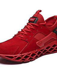 abordables -Homme Chaussures de confort Tissu élastique / Matière synthétique Automne Sportif / Décontracté Chaussures d'Athlétisme Course à Pied Massage Noir / Rouge