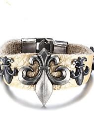 billige -Herre Klassisk Armbånd - Læder Mode Armbånd Lysegul Til Daglig Ferie