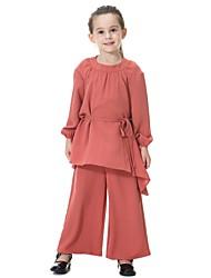 povoljno -Djeca Djevojčice Jednobojni Dugih rukava Komplet odjeće