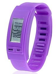 Недорогие -Для пары Спортивные часы Цифровой Календарь Секундомер Фосфоресцирующий силиконовый Группа Цифровой Мода Цветной Черный / Белый / Синий - Синий Розовый Светло-Зеленый Один год Срок службы батареи