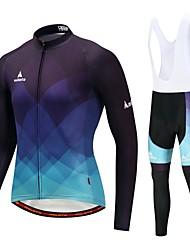 billiga Sport och friluftsliv-Miloto Cykeltröja med Haklapp-tights / Cykeljacka och byxa - Vit / Svart Cykel Håller värmen / Microelastisk
