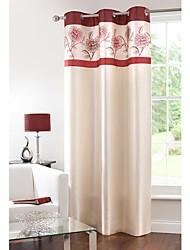 billige -Gardiner forhæng Soveværelse Blomstret 100% Polyester Trykt