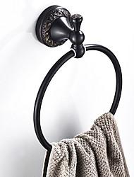 abordables -Crochet à Peignoir Design nouveau Antique Laiton 1pc anneau de serviette Montage mural