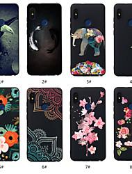Недорогие -Кейс для Назначение Xiaomi Redmi Примечание 5A / Redmi Note 5 Pro С узором Кейс на заднюю панель Животное / Цветы Мягкий ТПУ для Redmi Note 5A / Xiaomi Redmi Note 5 Pro / Xiaomi Redmi 6 Pro