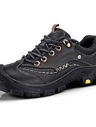 Недорогие -Муж. Комфортная обувь Наппа Leather Осень Винтаж / На каждый день Туфли на шнуровке Массаж Черный / Коричневый