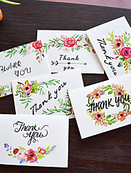 baratos -Dobrado de Lado Convites de casamento Cartões de Obrigado Estilo Artístico Papel puro