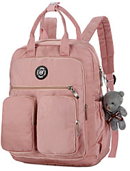 Недорогие -Универсальные Мешки Нейлон рюкзак Молнии Сплошной цвет Розовый / Серый / Желтый
