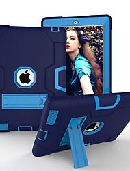 Недорогие -Cooho Кейс для Назначение Apple iPad (2018) / iPad Air 2 / iPad (2017) Защита от удара / Защита от пыли / Защита от влаги Чехол Геометрический рисунок Твердый Силикон / ПК для iPad Air / iPad 4/3/2
