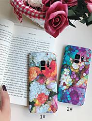 Недорогие -Кейс для Назначение SSamsung Galaxy S9 Plus / S9 Матовое / С узором Кейс на заднюю панель Мрамор Твердый ПК для S9 / S9 Plus / S8 Plus