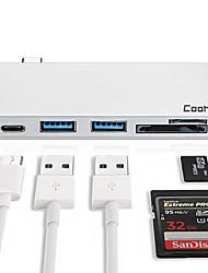 Недорогие -Сплав Серебряный USB-концентратор 0 cm