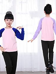 billiga -Balett Outfits Flickor Träning / Prestanda Elastan / Lycra Kombination Långärmad Topp / Byxor