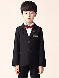 Недорогие -Черный Полиэфир Детский праздничный костюм - 1 комплект Включает в себя смокинг
