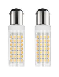 hesapli -2pcs 6 W 750 lm BA15d LED Mısır Işıklar T 88 LED Boncuklar SMD 2835 Sıcak Beyaz Serin Beyaz 85-265 V