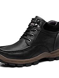 Недорогие -Муж. Кожаные ботинки Наппа Leather Зима На каждый день Ботинки Доказательство износа Черный / Коричневый