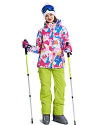 baratos -Mulheres Calças & Jaquetas de Esqui A Prova de Vento, Quente, Ventilação Esqui / Multi-Esporte / Esportes de Neve Poliéster Conjuntos de Roupas Roupa de Esqui / Inverno
