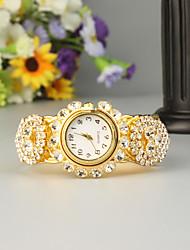 Недорогие -FEIS Жен. Дамы Часы-браслет Кварцевый Золотистый Секундомер Аналого-цифровые Мода - Золотистый