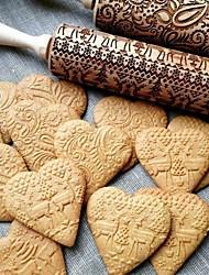 Недорогие -Инструменты для выпечки Дерево Милый Многофункциональный Торты Печенье Формы для пирожных Скалка 1шт