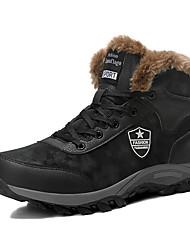 Недорогие -Муж. Зимние сапоги Замша Зима На каждый день Ботинки Сохраняет тепло Ботинки Черный
