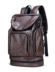 Недорогие -PU Сплошной цвет Дорожная сумка Молнии Сплошной цвет Черный / Коричневый