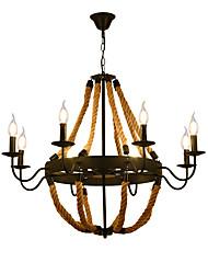 Недорогие -8-Light промышленные Люстры и лампы Рассеянное освещение Окрашенные отделки Металл Мини, Творчество 110-120Вольт / 220-240Вольт