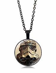 رخيصةأون -نسائي كلاسيكي قلائد الحلي / قلادة خمر - مطلي بالفضة, مطلية بالذهب أنيق, عتيق, Steampunk ذهبي, أسود, فضي 50 cm قلادة مجوهرات 1PC من أجل هدية, مناسب للبس اليومي