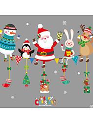 Недорогие -Декоративные наклейки на стены - Праздник стены стикеры Животные / Рождество Столовая / В помещении