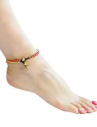 ราคาถูก -สำหรับผู้หญิง ถัก สร้อยข้อมือข้อเท้า - แฟชั่น เครื่องประดับ ขาว / สีม่วง / แดง สำหรับ ทุกวัน