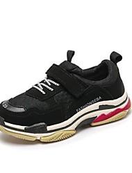 Недорогие -Мальчики Обувь Сетка / Полиуретан Наступила зима Удобная обувь Спортивная обувь Для прогулок Шнуровка для Дети / Для подростков Белый / Черный