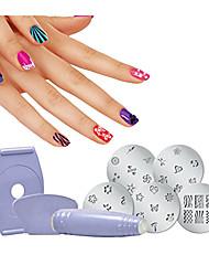 ieftine -1set Materiale ecologice Nail Art Drill Kit Pentru Cea mai buna calitate Serie de Flori nail art pedichiura si manichiura La modă / Modă Zilnic