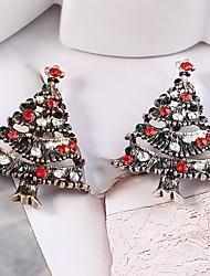 baratos -Mulheres Broches - Árvore de Natal Estiloso, Clássico Broche Dourado / Prata Para Natal