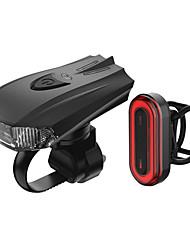 Недорогие -Светодиодная лампа Велосипедные фары Набор аккумуляторных ламп для велосипеда Передняя фара для велосипеда Задняя подсветка на велосипед Горные велосипеды Велоспорт / огни безопасности