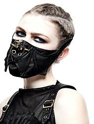 Недорогие -Доктор чумы Маскарадная маска Половинная маска Заклепка Панк Steampunk Ведение маски Женский Мужской Черный Однотонный Маски Заклепка Искусственная кожа Синтетическое волокно костюмы