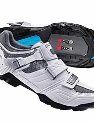 Недорогие -Взрослые Обувь для горного велосипеда Нейлон, стекловолокно, воздушное отверстие,противоскользящие протекторы Дышащий Амортизация Вентиляция Велосипедный спорт / Велоспорт Для велоспорта Белый Жен.