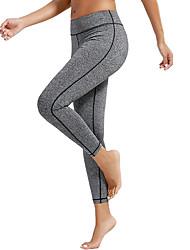 billiga -Dam Ficka Yoga byxor - Blå, Mörkgrå, Roströd sporter Ensfärgat Cykling Tights / Leggings Dans, Löpning, Fitness Sportkläder Snabb tork, Butt Lift, Magkontroll Hög Elasisitet Skinny